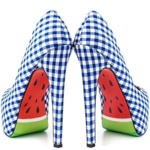 Watermelon heels